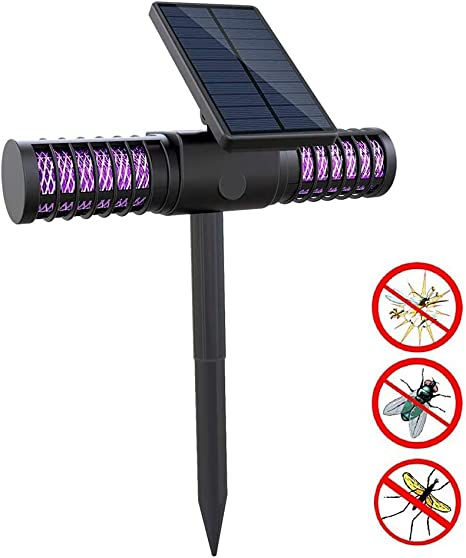 HDJLI Lámpara Antimosquitos Electrico Exterior, Lámpara De Jardín Al UV Luz Lampara del Jardín Impermeable Al Aire Libre Lámpara Anti Mosquitos: Amazon.es: Deportes y aire libre