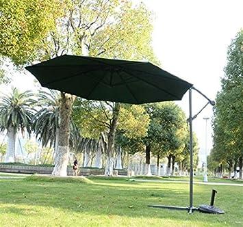 3 M sombrilla de jardín Parasol umbrella-green – elegante Banana para colgar paraguas,