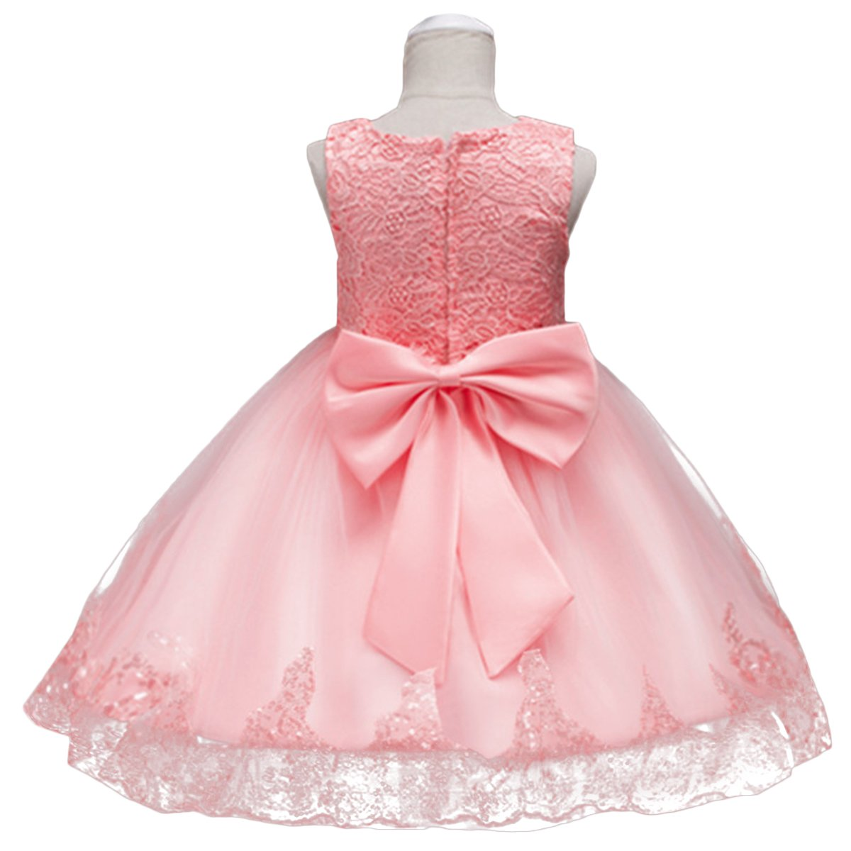 4cc8407aa Amazon.com: IBTOM CASTLE Kids Flower Girls Vintage Embroidered Sequins Dress  Short Trim Layered Wedding Baptism Pageant Party Gown: Clothing