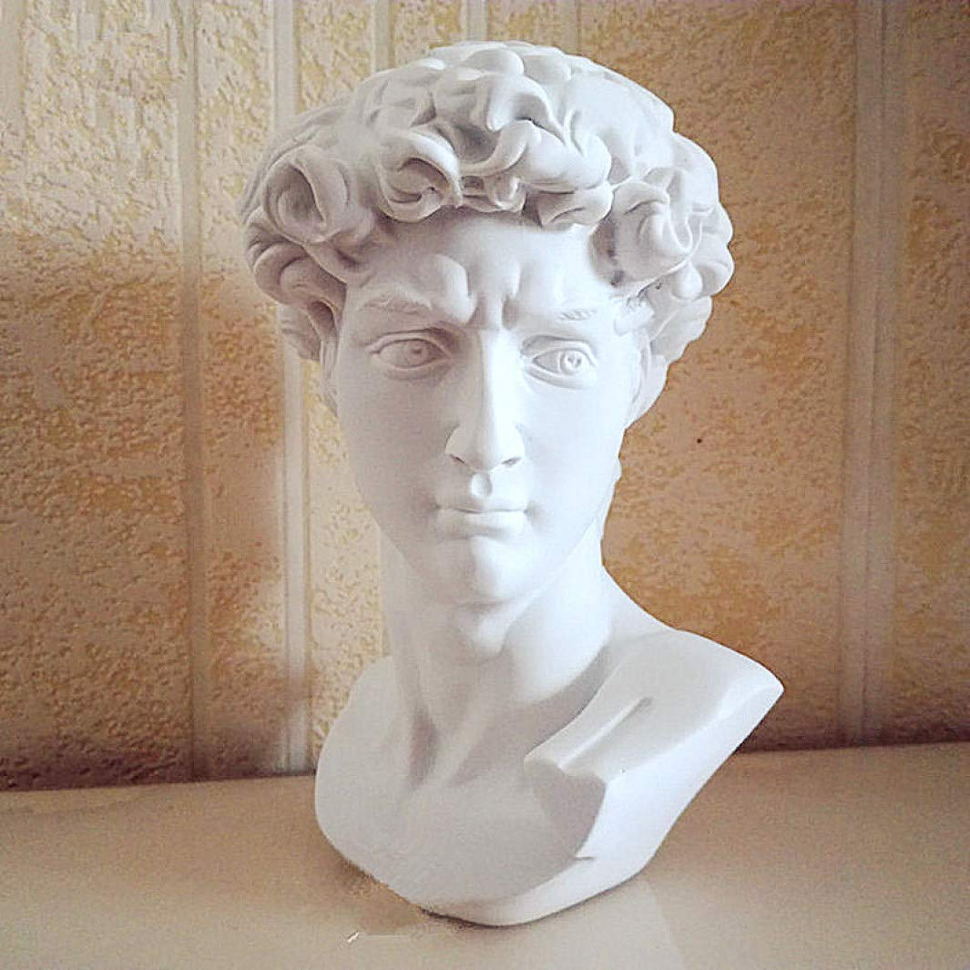 Mons Home Store David Head Portraits Bust Statue Michelangelo Resin Craftwork Office Hotel Living Room Decoration Gift