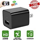 Hidden Camera USB Phone Charger-HD 1080P Spy Cameras, WIFI Wireless Wall Plug Adapter / Motion Detection  / Remote View , App Control  / Nanny Cam  / For Home Security /  Baby, Kids, Pet Monitoring