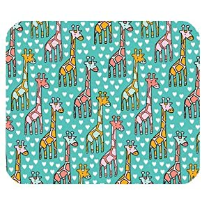 Cartoon Giraffe and Heart Personalized Rectangle Mouse Pad