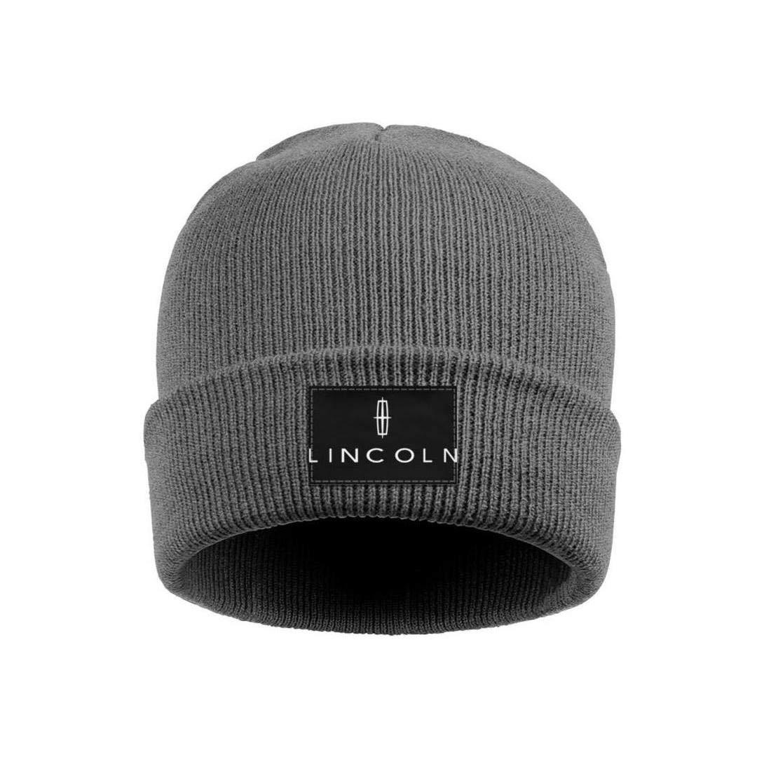 Wool Beanie Cap Knit Cap Fine Knit Beanie HatsWinter Warm sdfjkoinj Mens Lincoln-Logo