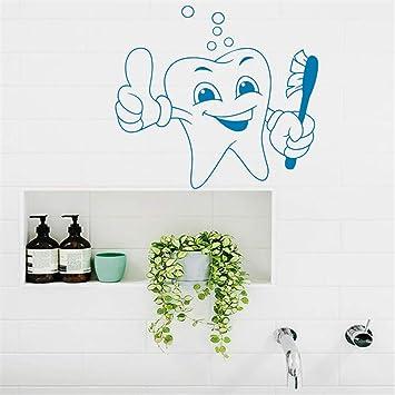 pegatina de pared 3d Etiqueta de los dientes Etiqueta del dentista ...