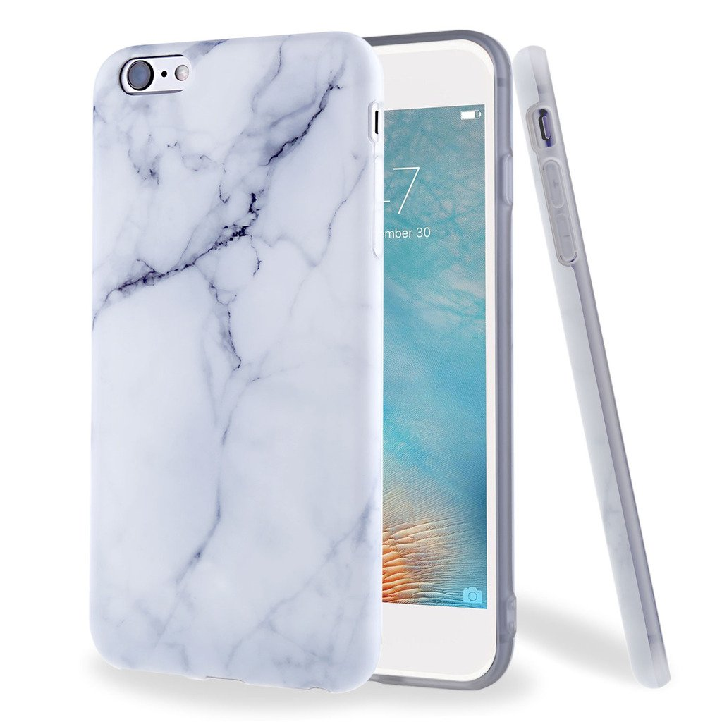 iPhone 6/6s Case, Shiny Rose Gold Gray Marble Design, ivencase Flexible Soft Rubber Matte TPU Skin Case Bumper Silicone Gel Cover for Apple iPhone 6/6S Iven Global Trade