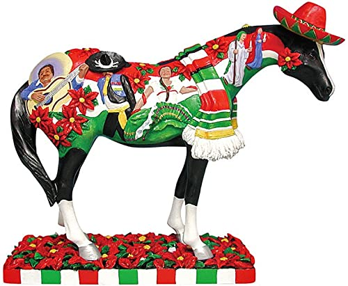 Enesco Trail of Painted Ponies Feliz Navidad Pony Figurine 6-1 4-Inch