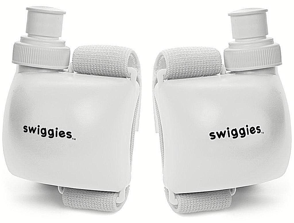 Perfect for Jogging Adult Size As Seen On TV The Original Wrist Water Bottle Flask and Many Other Various Functionalities 11 Oz On The Go Water Color White Playing Sports Swiggies