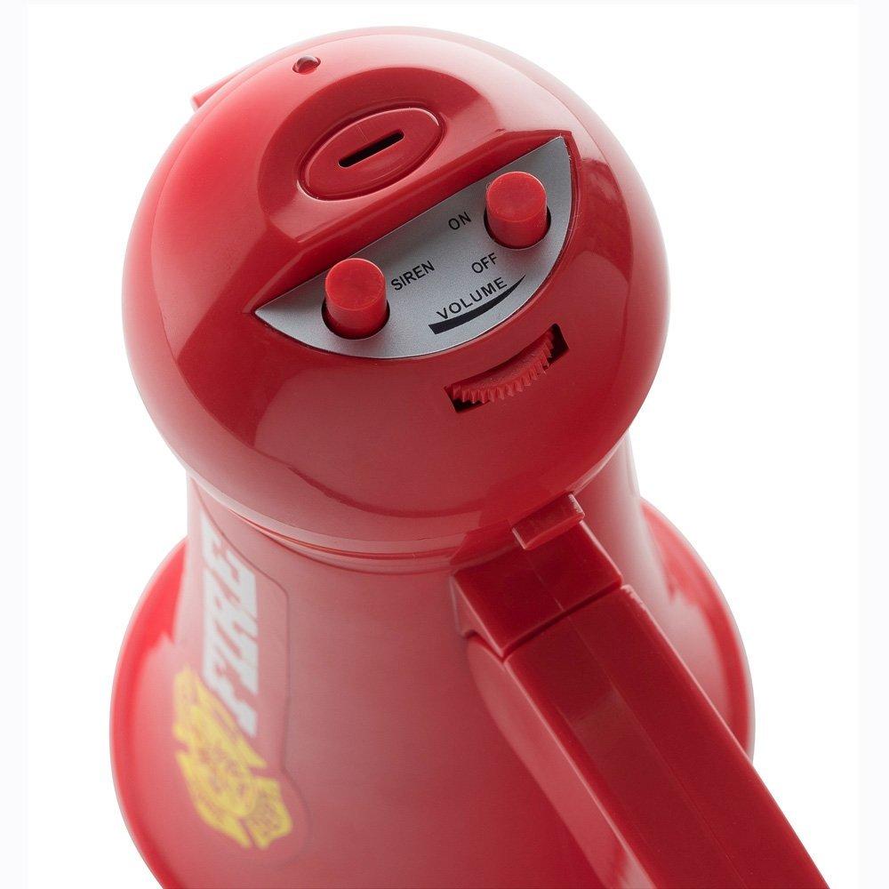 Handheld-Mic-Spielzeug Dress Up America T/äuschen Sie das Megaphon-Megaphon des Kinderfeuerwehrmann-Megaphons mit Sirenenton vor