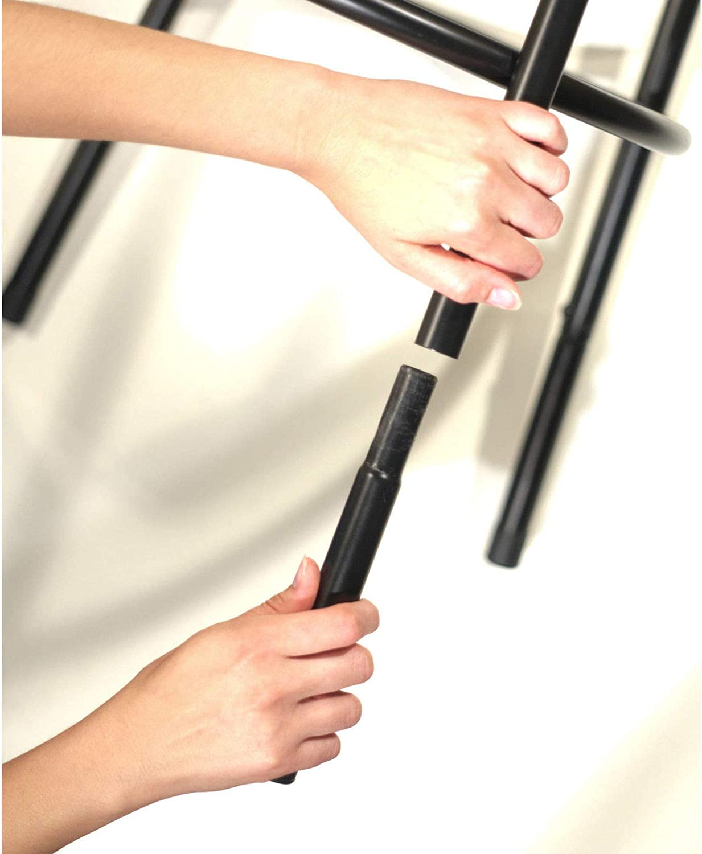 Delta Adjustable Metal Barstools, 3-Piece Set, Black