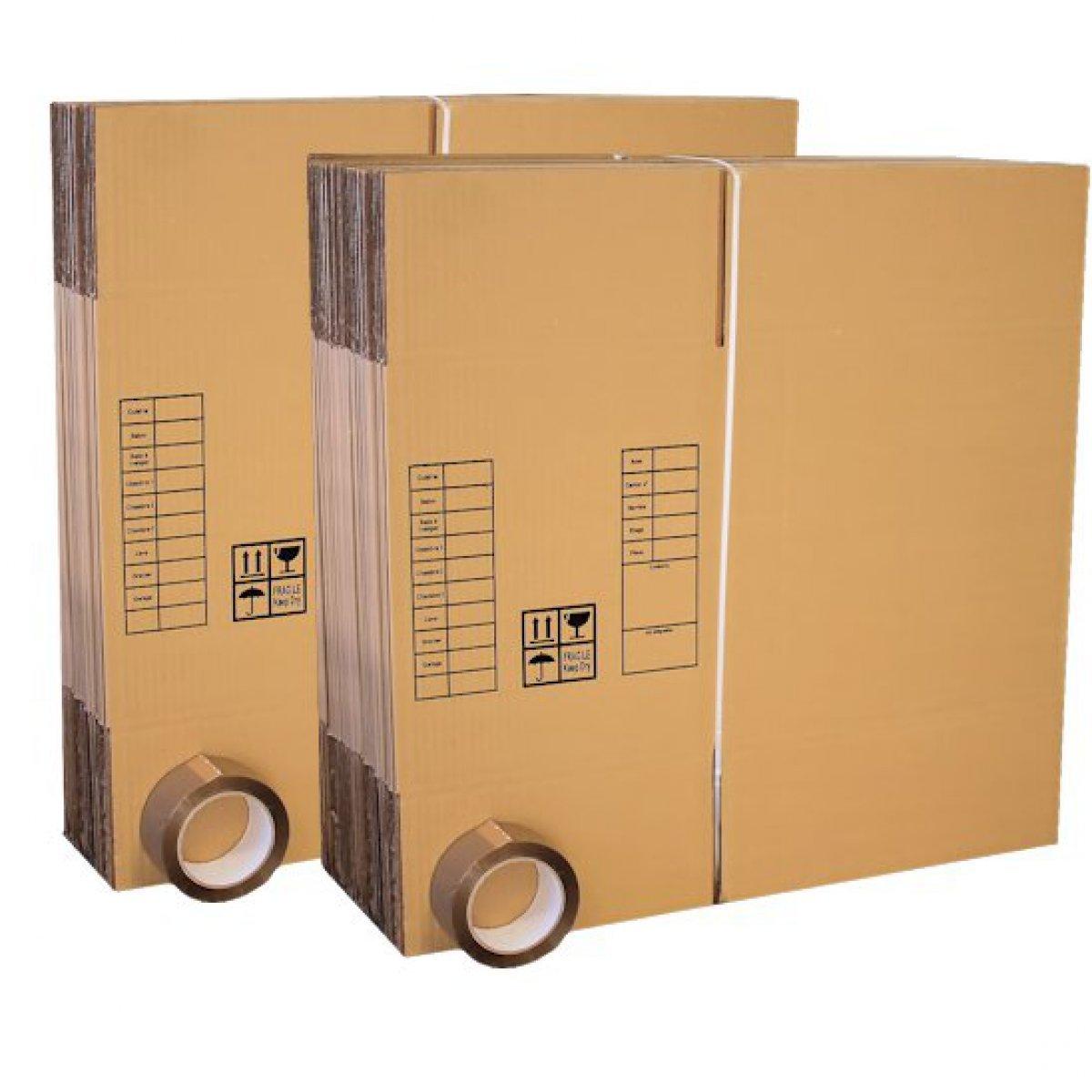 560/x 510/x 1240/mm Carton V/êtements V/êtements V/êtements D/ém/énagement Carton Bo/îte de transport haute