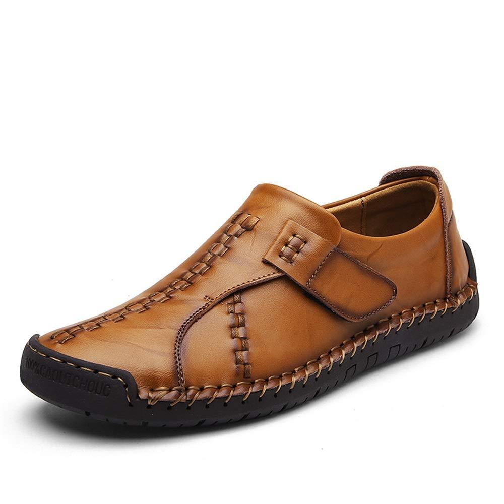 Fuxitoggo Haken-Schleife-Schuhe Soft für Männer Casual Fashion Soft Haken-Schleife-Schuhe Sole Handgemachte Driving Loafers (Farbe : Rot, Größe : EU 39) Braun 2c692d