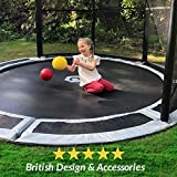 10ft Capital In-Ground Trampoline Kit - Grey Pads