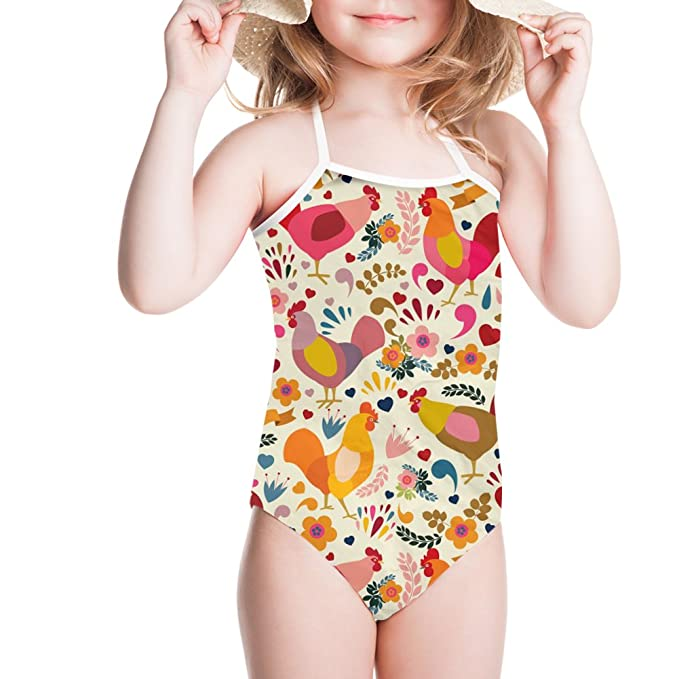7e6945628a Image Unavailable. Image not available for. Color: doginthehole Cartoon  Animal Swimwear Baby Girl Halter One Piece Swimsuit Beachwear
