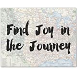 Find Joy in the Journey - 11x14 Unframed Typography Art Print - Great Inspirational Gift