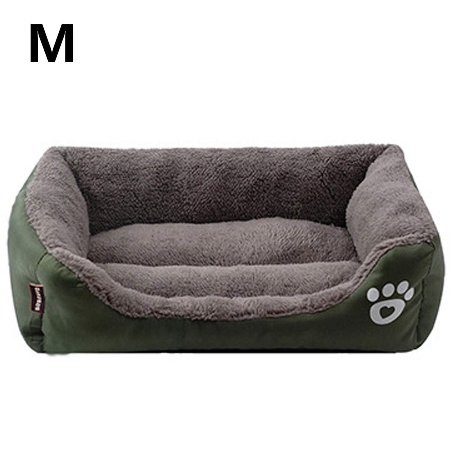 Blackish green 58X45X14cm Blackish green 58X45X14cm PETFDH Pet Sofa Dog Bed Warming Dog House Soft Material Nest Dog Baskets Fall and Winter Warm Kennel for Cat Puppy Blackish Green 58X45X14cm