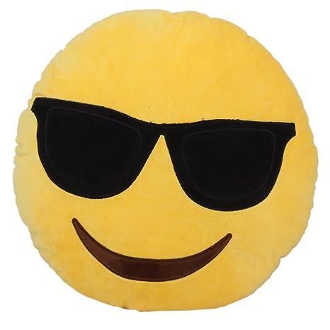 Emoji Cuscini.Cuscino Rotondo Emoji Emoticon Morbido Cuscino Farcito Peluche