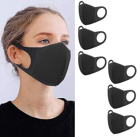 6 pcs Negro 𝐌𝐚𝐬𝐜𝐚𝐫𝐢𝐥𝐥𝐚𝐬 Antipolución Lavable Reutilizable Transpirable Adulto Pañuelo Negro al Aire Libre: Amazon.es: Industria, empresas y ciencia