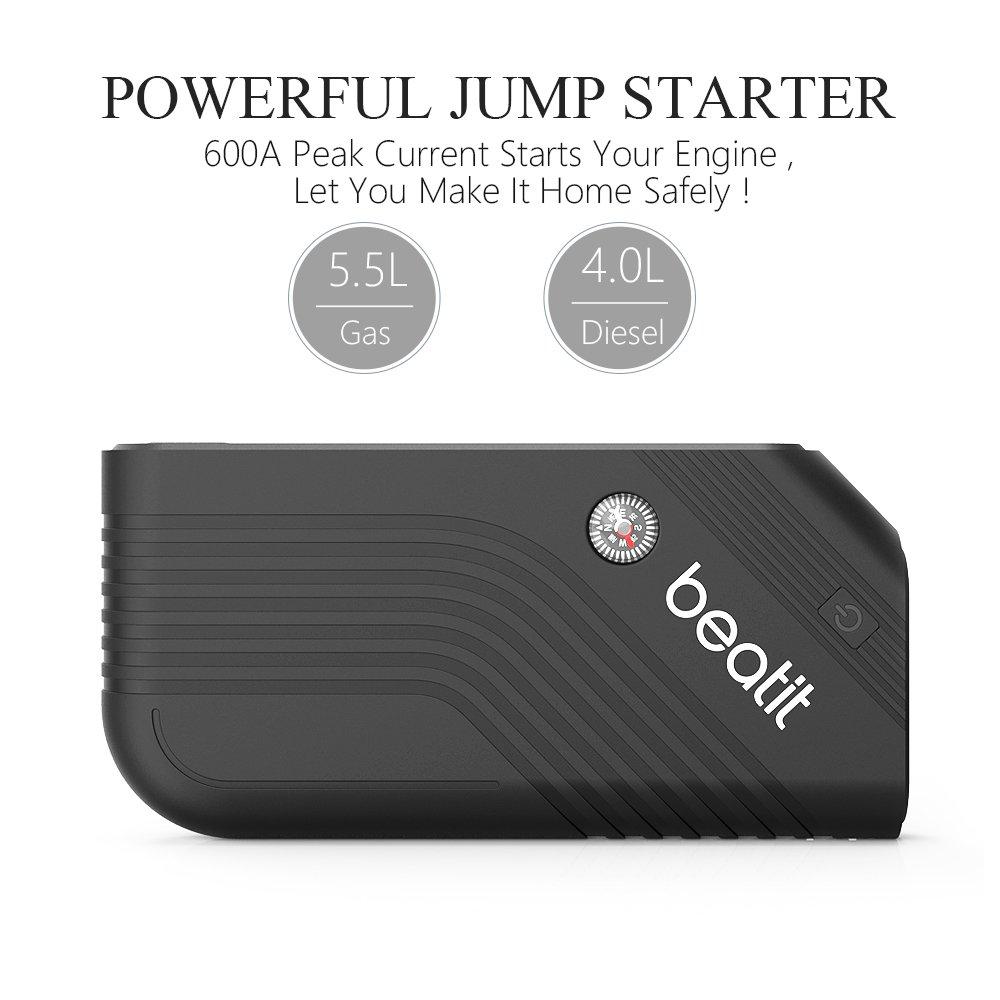 Beatit B9-B-O Portable Car Jump Starter Booster (Battery Charger Power Bank Vehicle Emergency Kit) by Beatit (Image #2)