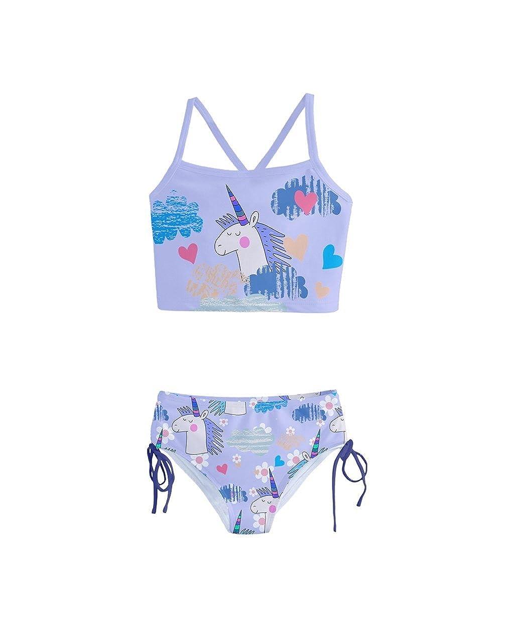 1143cc5c41daf Top8: PattyCandy Little Girls Bathing Suit Cute Lion Owls & Giraffe Animals  Print Tankini Swimsuit Size 2-16