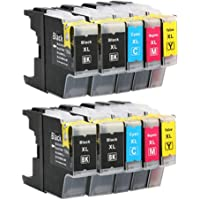 10 Generic LC-73 LC-40 LC-77XL Ink cartridges for Brother J280 J625 J6510 J925