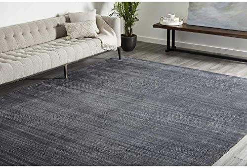 Solo Rugs Harbor Contemporary Solid Hand Loomed Area Rug