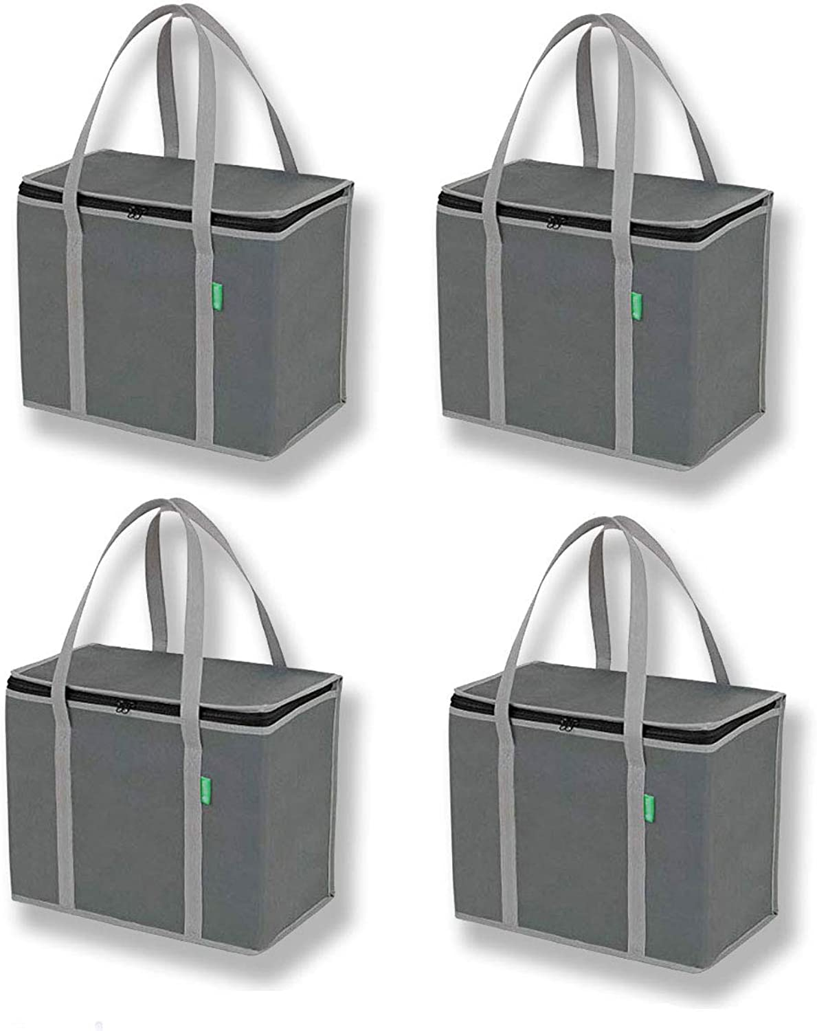 Insulated Cooler Grocery Bags 4-Pk Heavy Duty Straps 16
