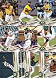 2012,2013,2014,2015,2016,2017 Topps Oakland Athletics Baseball Card Team Sets (Complete Series 1 & 2 From All Six Years ) inc. Sonny Gray, Rookies, 100+ cards, shipped in acrylic cases