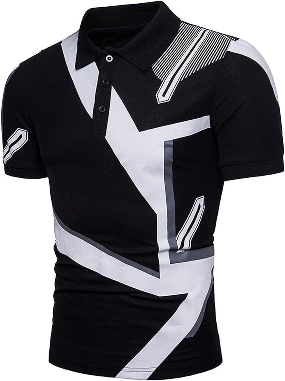SSBZYES Camisetas De Hombre Polos De Hombre Camisetas De Verano De Manga Corta para Código Europeo Estampado Geométrico Camisetas De Manga Corta para Hombre Camisetas De Solapa para Hombre Jerseys