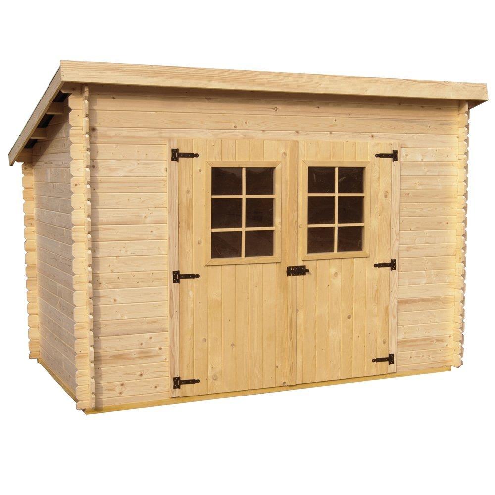 Caseta de madera, 20 mm, 300 x 184 x 200 (a) cm., con suelo, para jardín, para herramientas CH3019.01: Amazon.es: Jardín