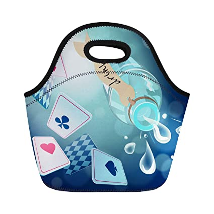 b77c2f33a6de Amazon.com: Semtomn Lunch Bags White Alice Playing and Poison ...