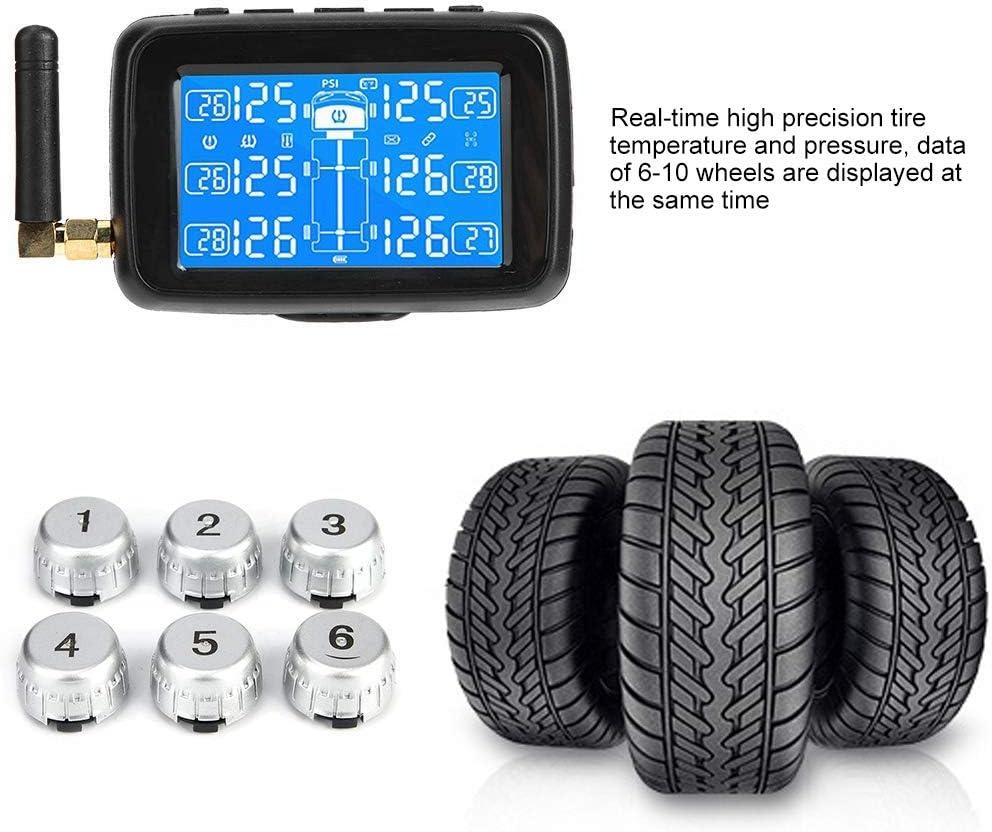 Reifendruckkontrollsystem Autoreifen mit 6 externen Sensoren TPMS und Antenne f/ür Universalautos