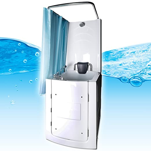sitzwanne seniors shower sitzbadewanne duschbadewanne pool a110d with door amazoncouk diy tools apotheke