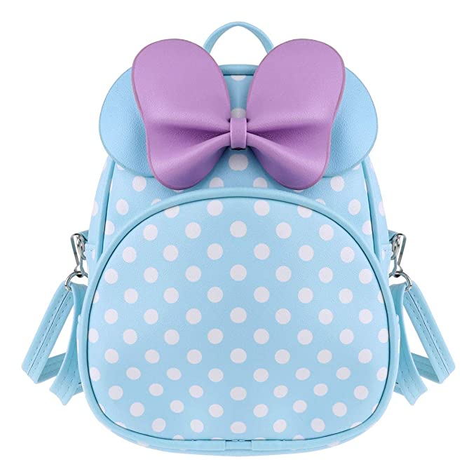 Amazon.com | Agoky Kids Girls Polka Dots Cartoon Backpack Cute Bow Tie Mini Satchel Kindergarten School Bag Sky Blue One Size | Kids Backpacks