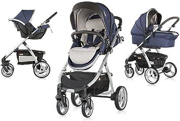 UP & DOWN, cochecito de bebés tres piezas con capazo duro (blue indigo)