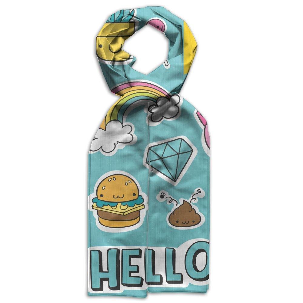 DGYEG44 Hello Printing Scarf Kids Warm Soft Fashion Scarf Shawl For Autumn Winter