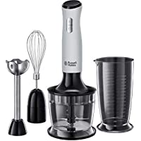 Russell Hobbs RHSM700, 3-In-1 Classic Hand Blender, 2 Speed Settings + Pulse, Includes Beaker, Mini Chopper And Whisk…