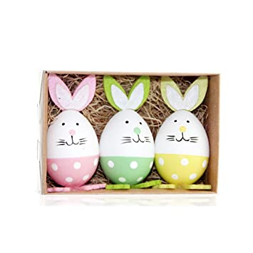 Funoc 3pcs rabbit easter eggs centerpieces tabletop decoration funoc 3pcs rabbit easter eggs centerpieces tabletop decoration ornaments gifts negle Choice Image