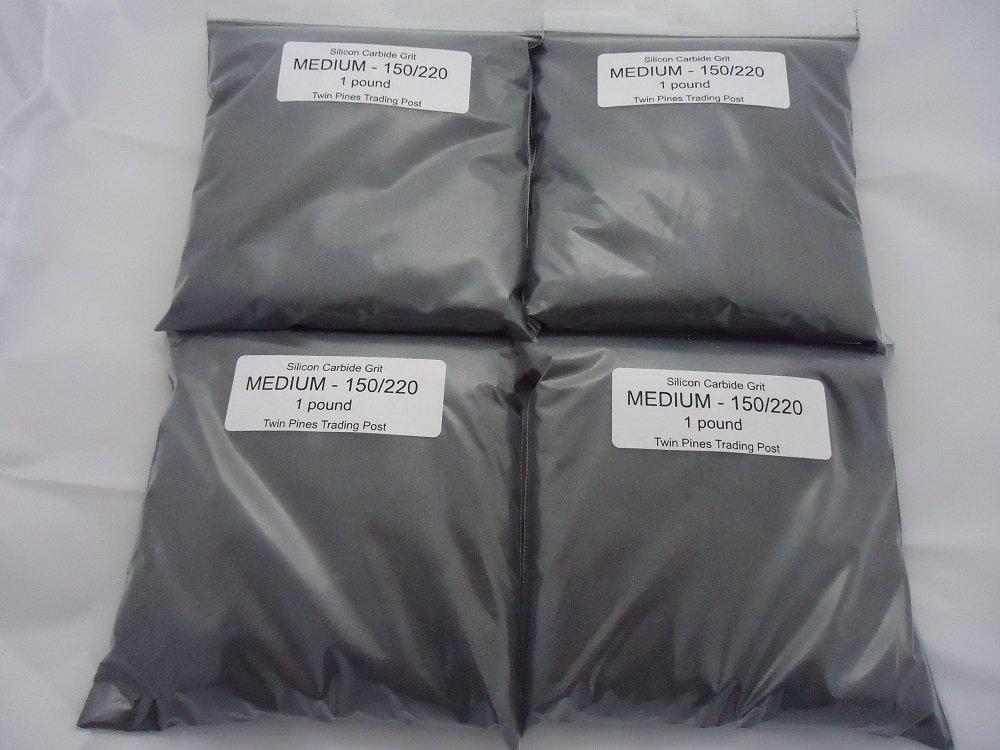 Medium 150/220 Silicon Carbide Grit -4 lbs.