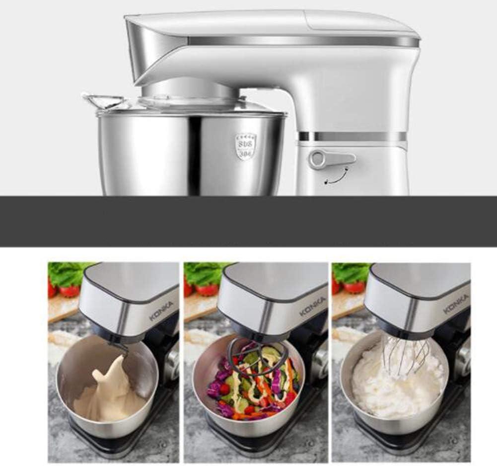 WYD Amasadora 1000W 5L Bol De Acero Inoxidable Robot De Cocina 6 ...