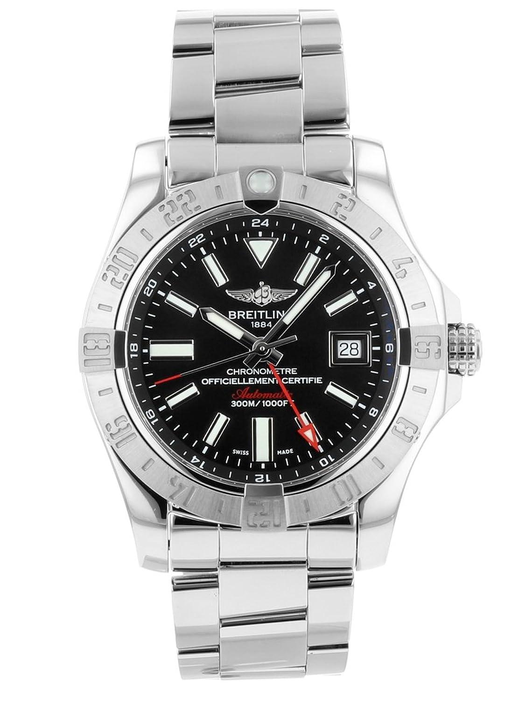 [ブライトリング] 腕時計 BREITLING A32390 アベンジャーII GMT ブラック文字盤 SSブレス 自動巻き メンズ [中古品] [並行輸入品] B07DLWP1BZ