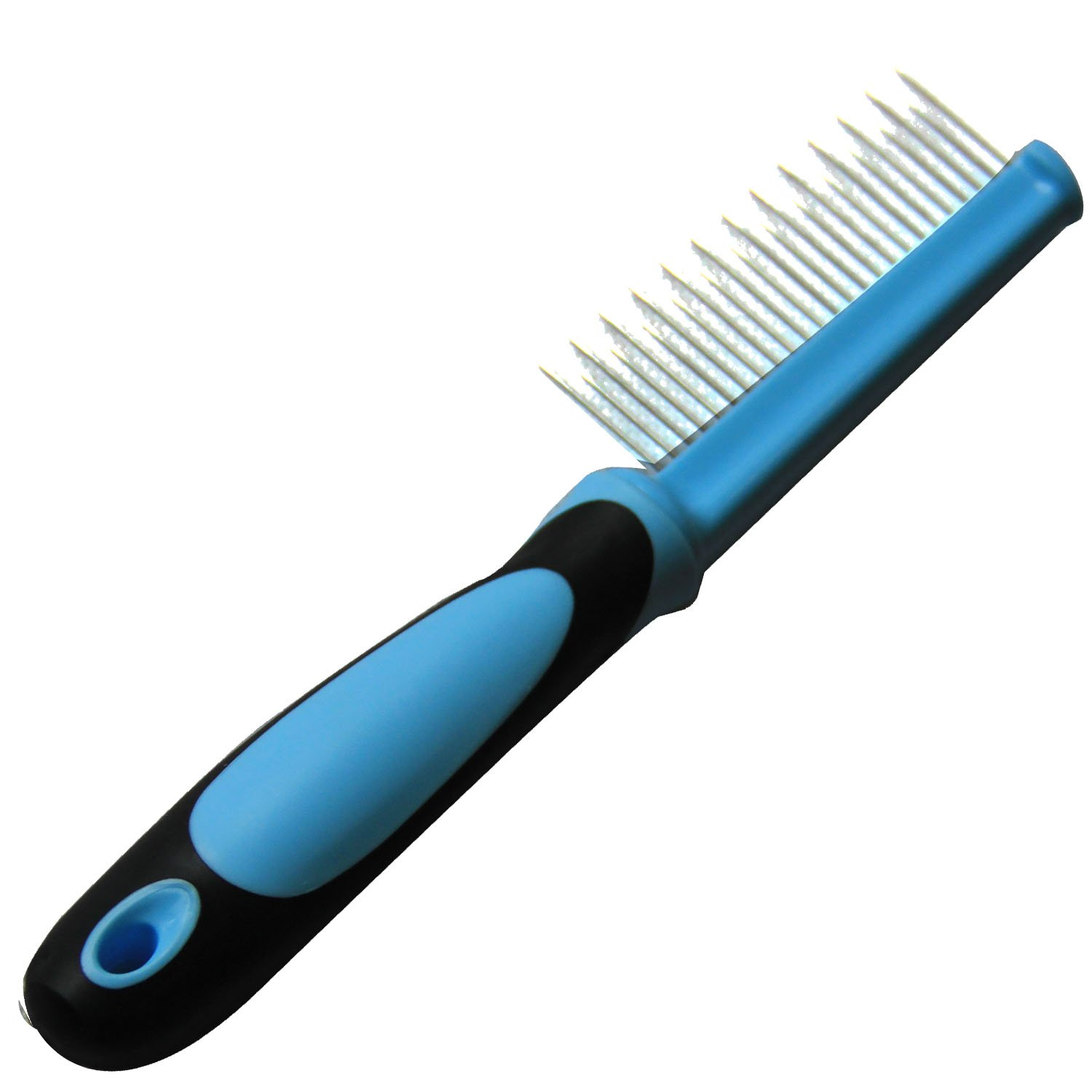 Iconic Pet Single Sided Skip Tooth Pin Comb, Blue