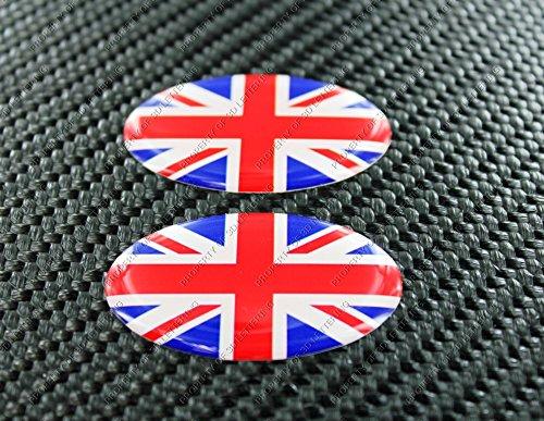 United Kingdom Union Jack Flag Triumph Oval Sticker Pair
