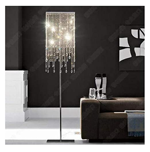 Lámpara De Pie De Cristal De Lujo Europeo Salón Simple ...