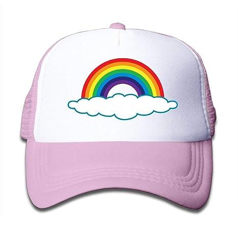 Xdevrbk Sombrero de Camionero Personalizado para niños Rainbow ...