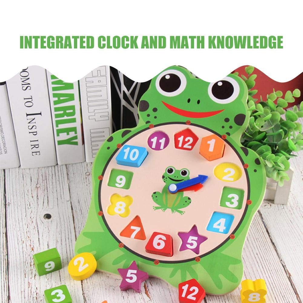Amazon.com : Children Digital Clock Cartoon Wooden Toy Clock Animal Cute Fun Puzzle Educational Toys Frog Owl Shape Toy Kindergarten Children Teaching Toys ...