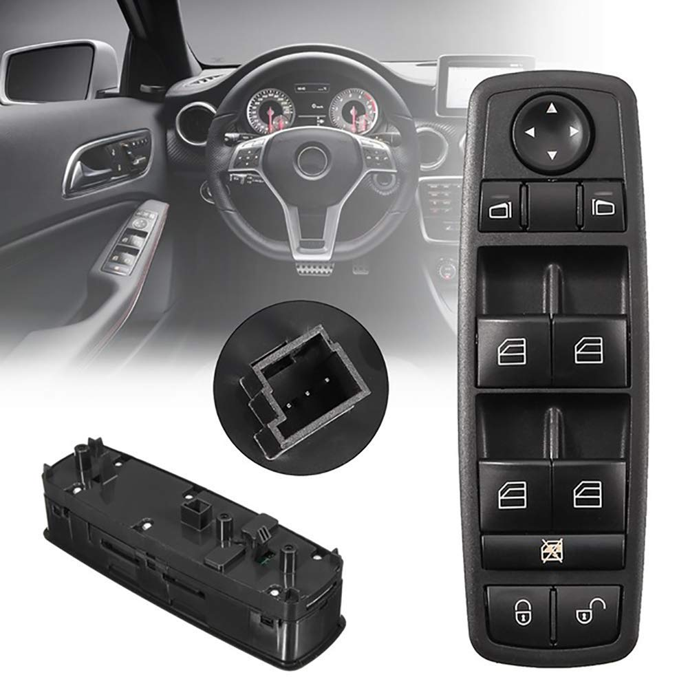 Thuron A1698206710 Interrupteur pour l/ève-vitre Classe A W169 Classe B W245 2006 /à 2012 Interrupteur de panneau 1698206710