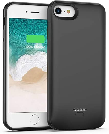 Amazon.com: Funda de batería recargable para iPhone 6, 6S, 7 ...