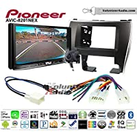 Volunteer Audio Pioneer AVIC-8201NEX Double Din Radio Install Kit with GPS Navigation Apple CarPlay Fits 2015-2017 Non Amplified Toyota Camry