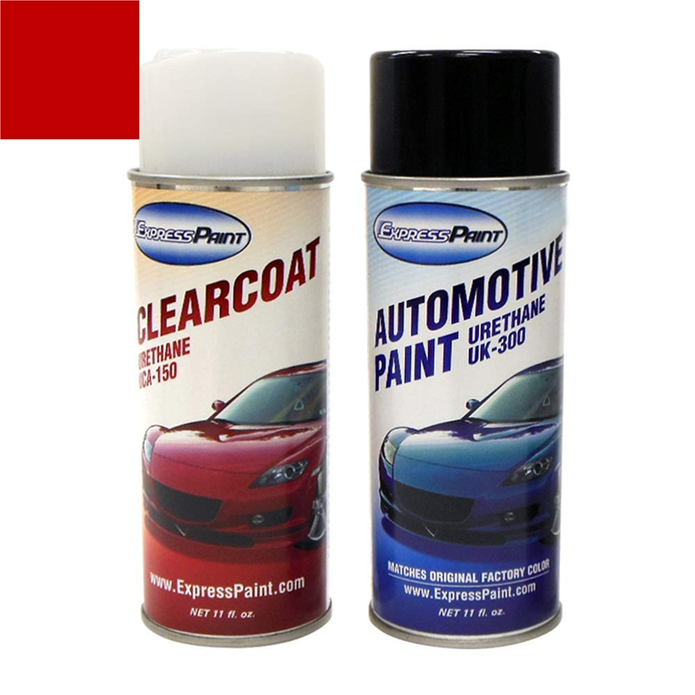 ExpressPaint Aerosol - Automotive Touch-up Paint for Nissan 350Z - Redline Clearcoat AX6 - All Inclusive Package