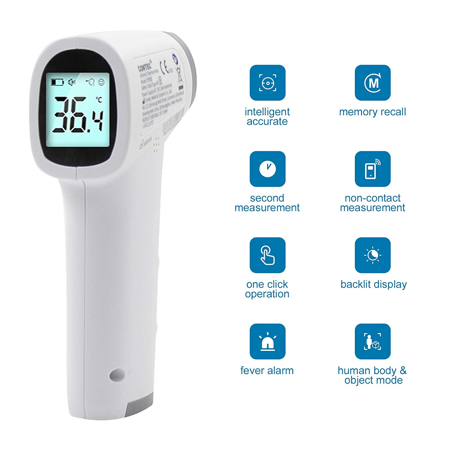 Non Contact Digital IR Infrared Forehead Thermometer Gun Body Temperature,TP500